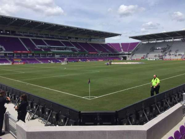 Exploria Stadium, section: 1, row: F, seat: 17