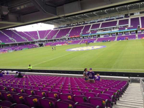 Exploria Stadium, section: 33, row: P, seat: 1