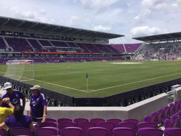 Exploria Stadium, section: 1, row: G, seat: 18