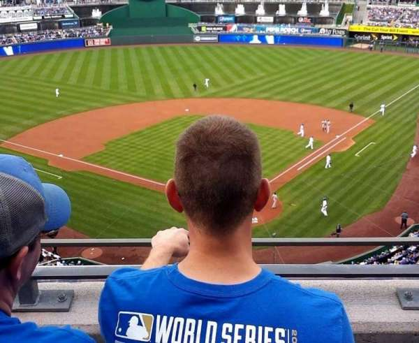 Kauffman Stadium, section: 419, row: J, seat: 8