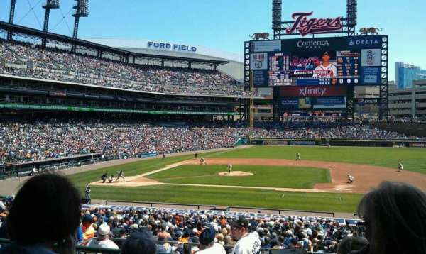 Comerica Park, section: 121A, row: C, seat: 1