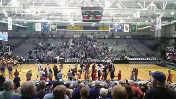 SEFCU Arena, section 600, row p, home of Albany Great Danes