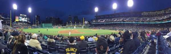PNC Park, section: 124, row: D, seat: 11
