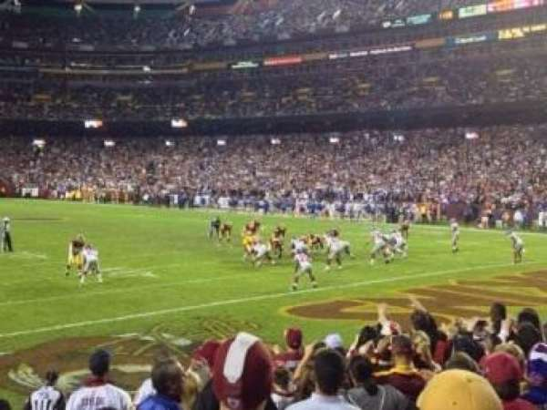 FedEx Field, section: 135, row: 8, seat: 3