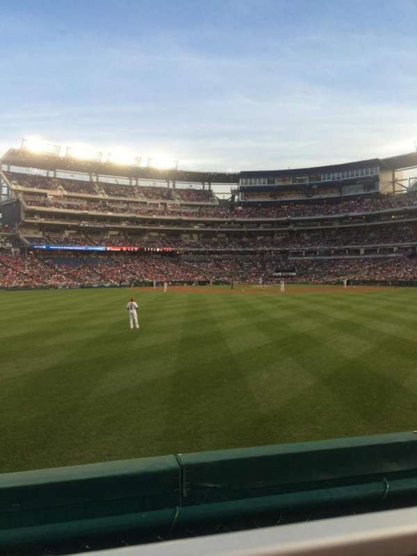Nationals Park, section: 100, row: A, seat: 23