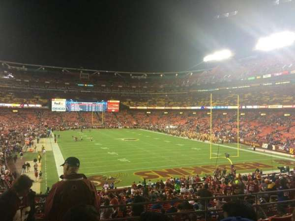 FedEx Field, section: 234, row: 6, seat: 17