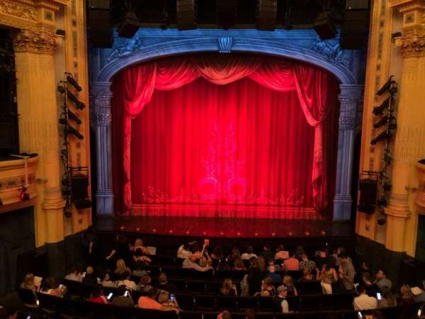 Hudson Theatre, section: Dress Circle, row: B, seat: 108