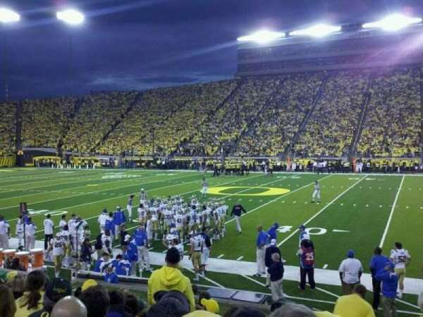 Autzen Stadium, section: 30, row: 11, seat: 5