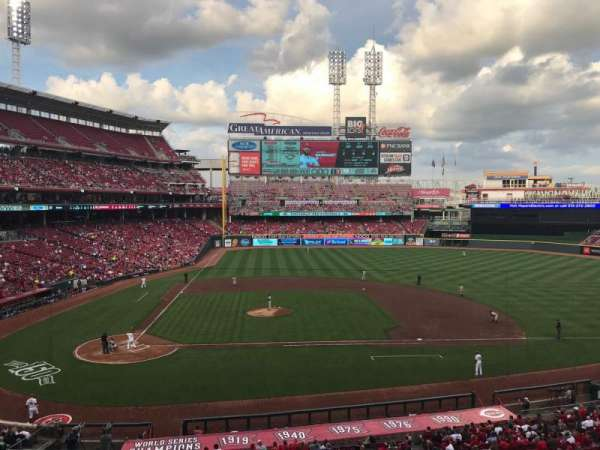 Great American Ball Park, section: 301, row: D, seat: 8