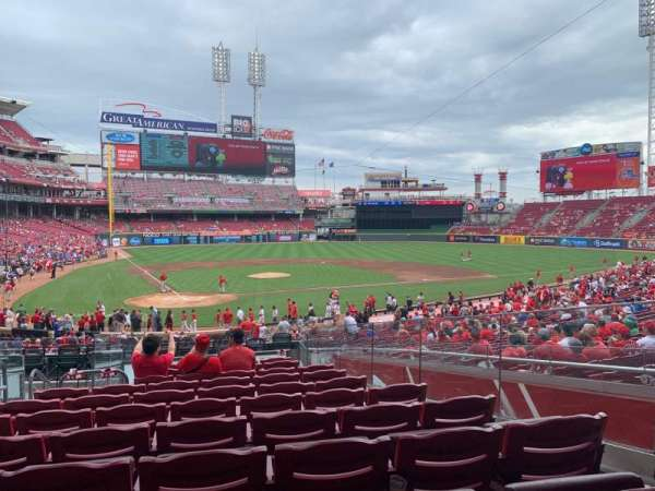 Great American Ball Park, section: 126, row: K, seat: 7
