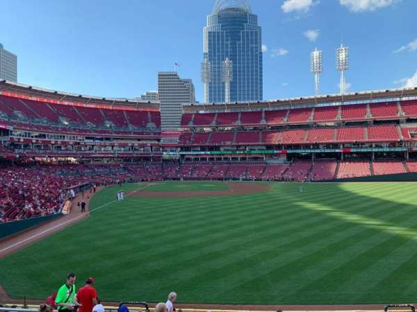 Great American Ball Park, section: 141, row: Q, seat: 16