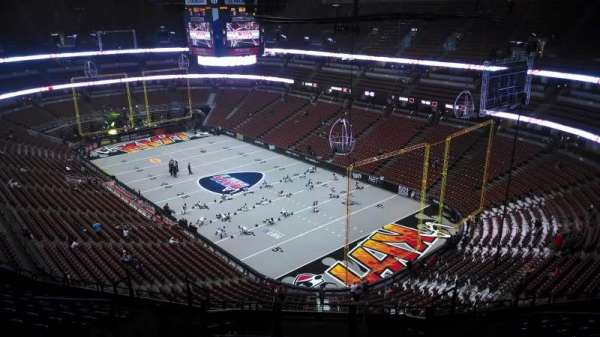 Honda Center, section: 405, row: N, seat: 8