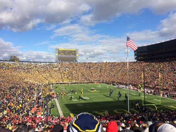Michigan Stadium, section: 14, row: 51, seat: 7