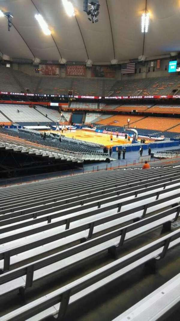 Carrier Dome, section: 116, row: W, seat: 101