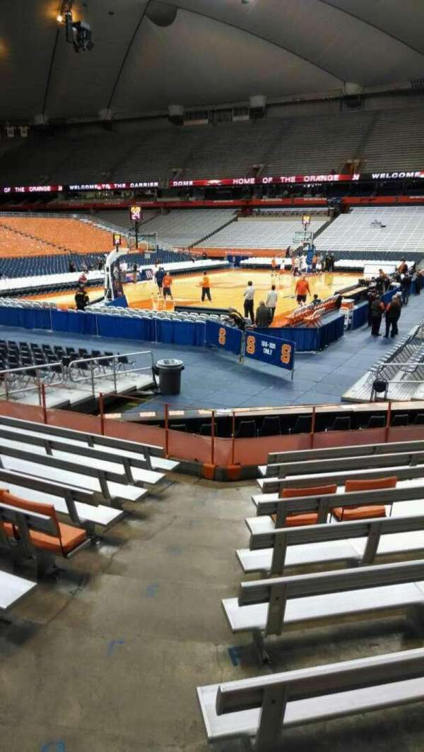 Carrier Dome, section: 112, row: J, seat: 107