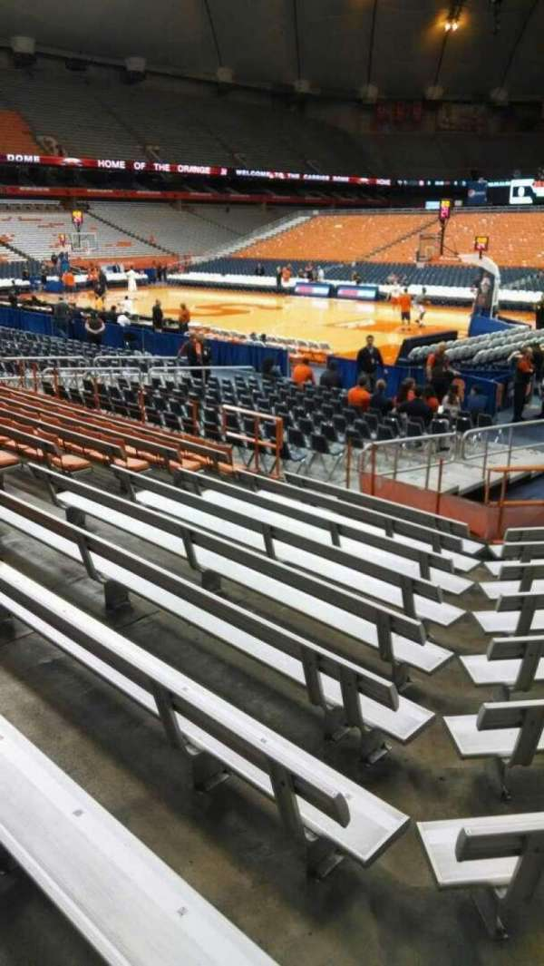 Carrier Dome, section: 106, row: J, seat: 10