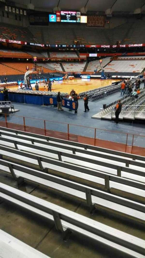 Carrier Dome, section: 102, row: I, seat: 5