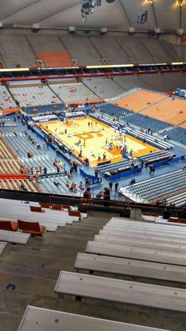 Carrier Dome, section: 306, row: T, seat: 102