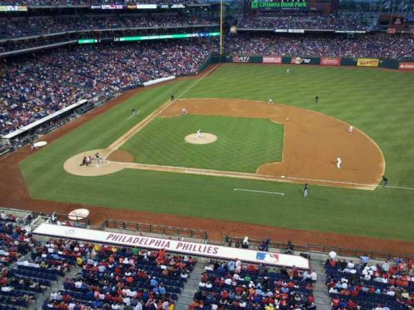 Citizens Bank Park, section: 315, row: 1, seat: 5