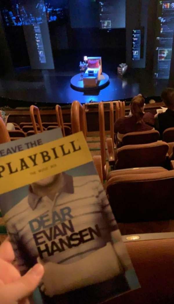 Music Box Theatre, section: Mezzanine R, row: H, seat: 2