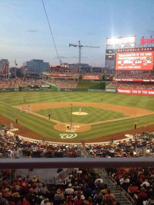 Nationals Park, section: 214, row: A, seat: 6