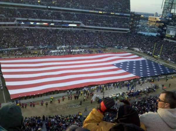 Lincoln Financial Field, section: 222, row: 8, seat: 15