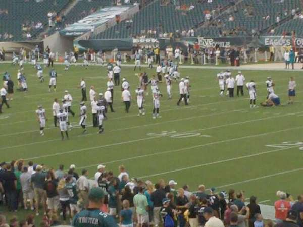 Lincoln Financial Field, section: 106, row: 15, seat: 12
