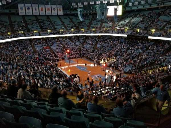 Dean E. Smith Center, section: 214, row: K, seat: 2