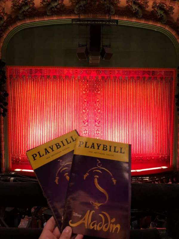 New Amsterdam Theatre, section: Mezzanine C, row: AA, seat: 112