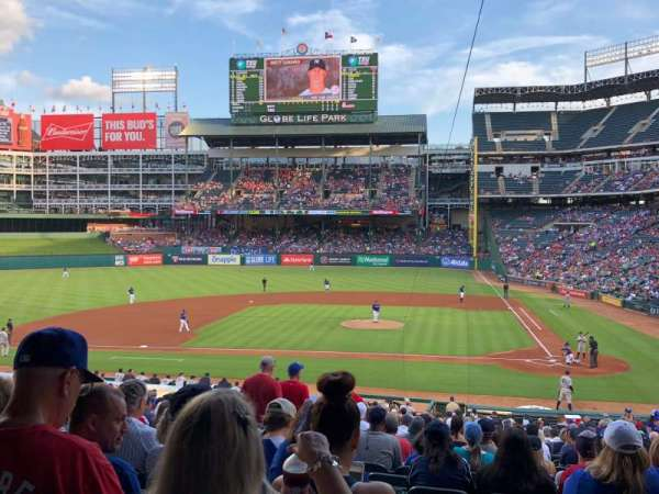 Globe Life Park in Arlington, section: 21, row: 32, seat: 5