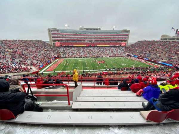 Memorial Stadium (Lincoln), section: 108, row: 14, seat: 10