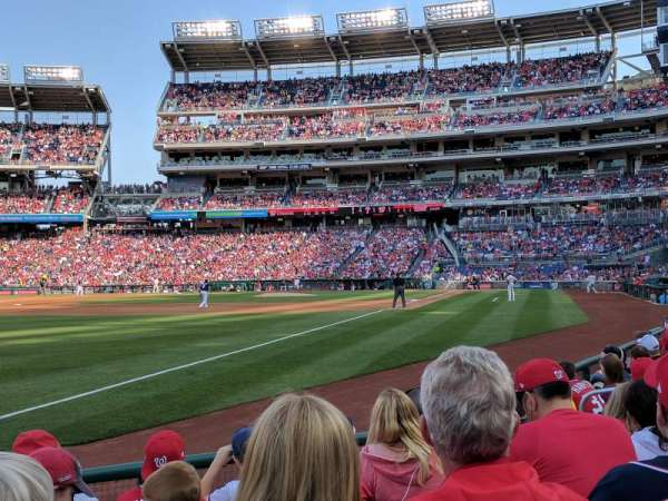 Nationals Park, section: 110, row: F, seat: 7