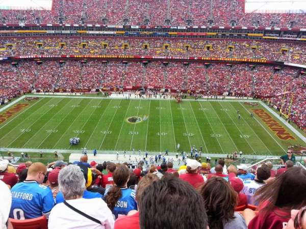 FedEx Field, section: 427, row: 11, seat: 12