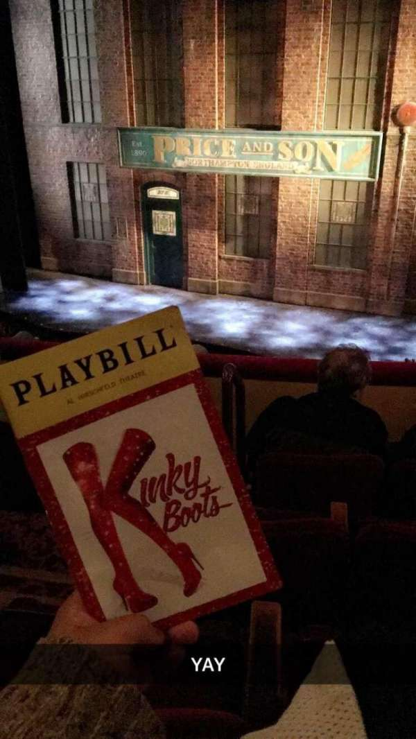 Al Hirschfeld Theatre, section: MezzRight, row: D, seat: 4