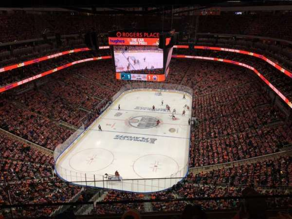 Rogers Place, section: Sky A, row: 3, seat: 12
