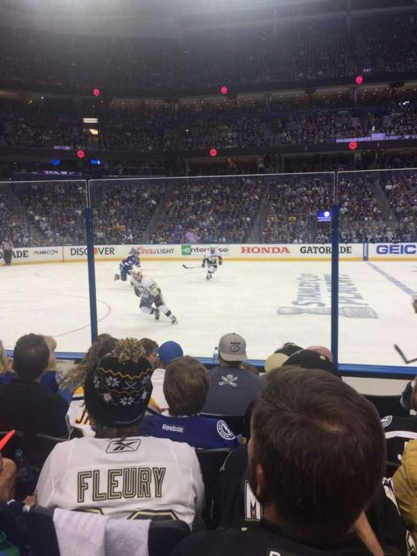Amalie Arena, section: 117, row: F, seat: 11