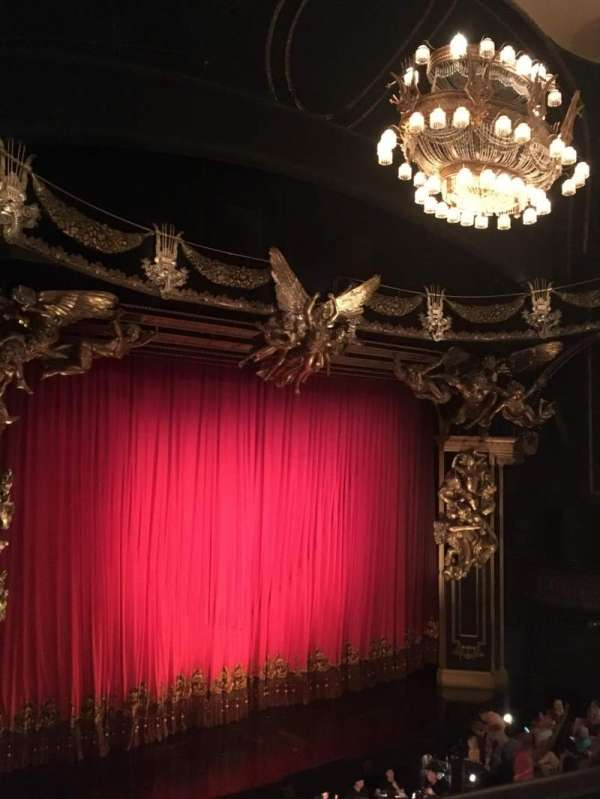 Majestic Theatre, section: Front Mezzanine Left, row: A, seat: 15