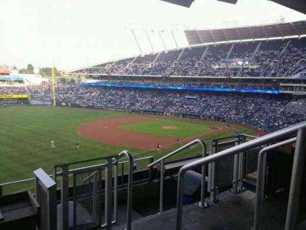 Kauffman Stadium, section: CRTBLE19, row: TBLD, seat: 1-2