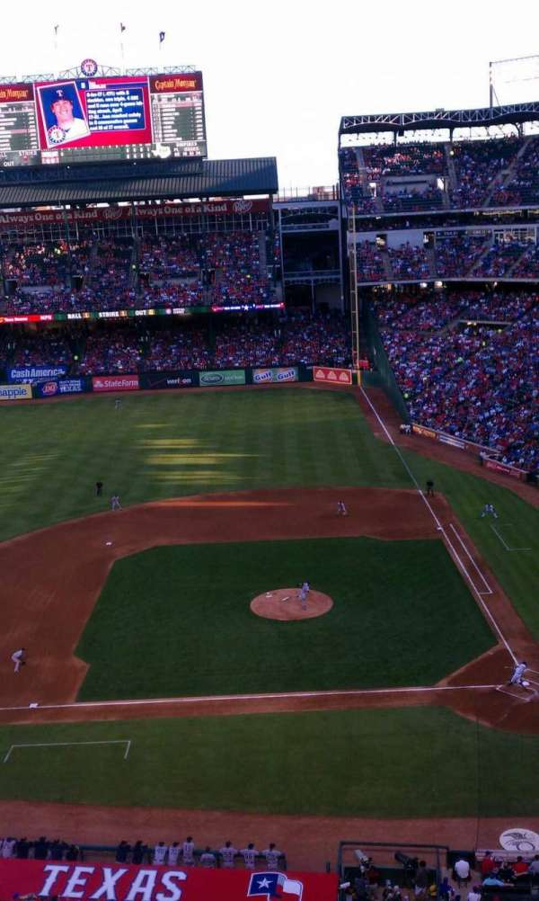 Globe Life Park in Arlington, section: 320, row: 1, seat: 16