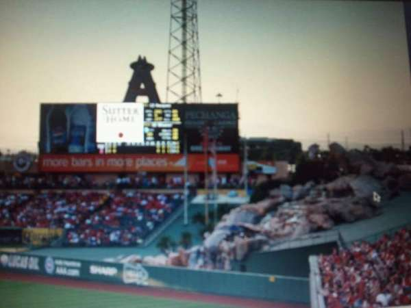 Angel Stadium, section: Center Field Rock
