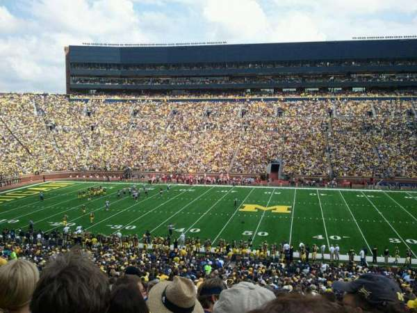 Michigan Stadium, section: 22, row: 42, seat: 15