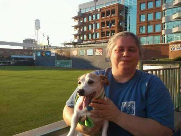 Durham Bulls Athletic Park, section: 132, row: A, seat: 19