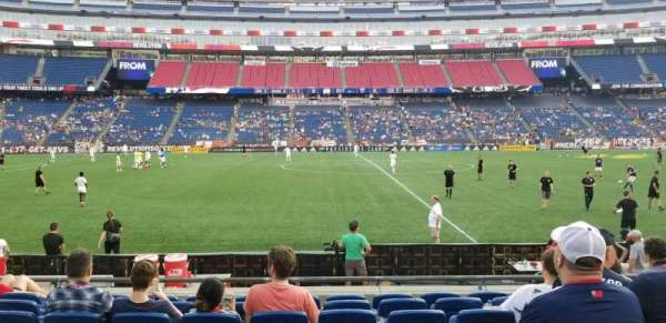 Gillette Stadium, section: 110, row: 8, seat: 9