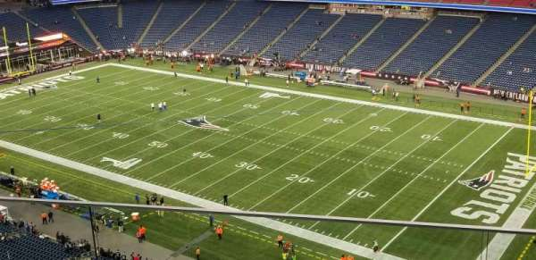Gillette Stadium, section: 304, row: 3, seat: 7