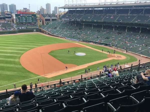 Wrigley Field, section: 308L, row: 10, seat: 5