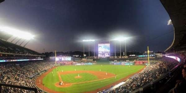 Kauffman Stadium, section: 312, row: B, seat: 2