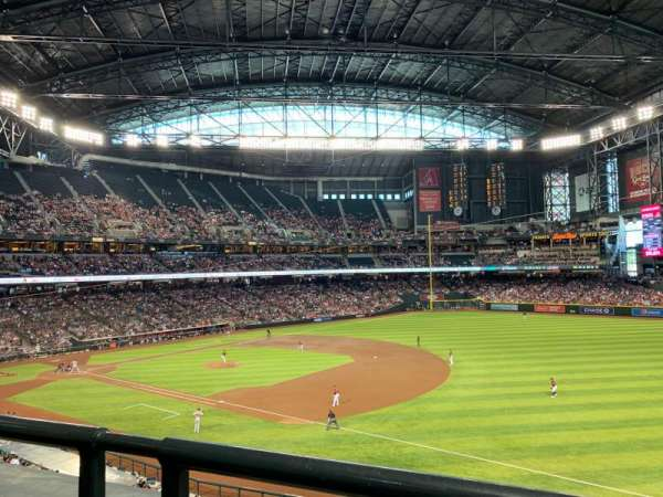 Chase Field, section: 204, row: 1, seat: 8
