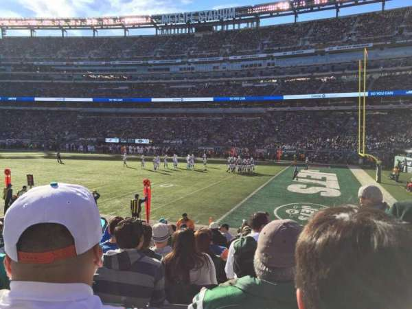 MetLife Stadium, section: 109, row: 11, seat: 2