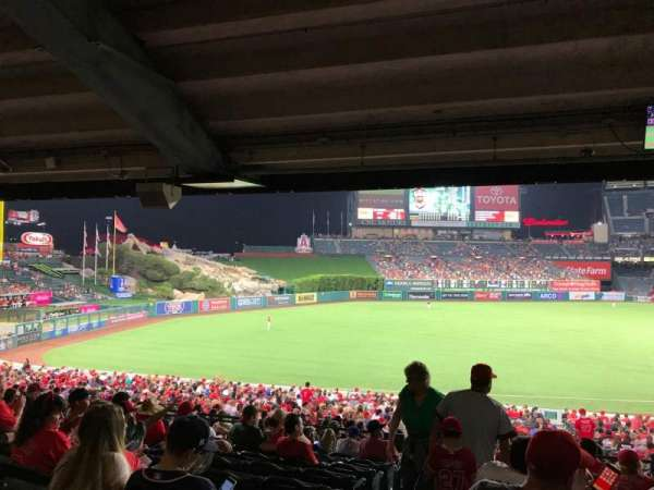 Angel Stadium, section: T208, row: K, seat: 1