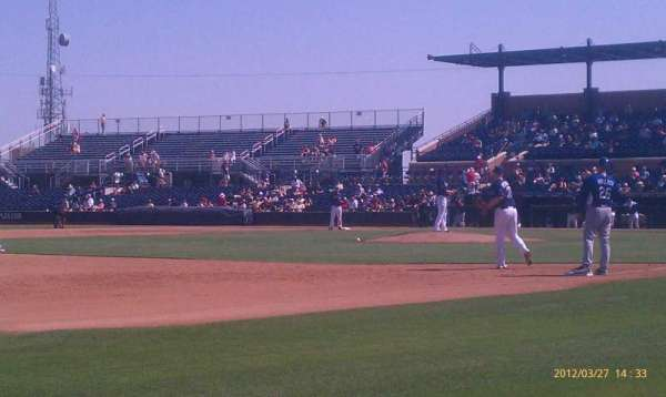 Peoria Sports Complex, section: 117, row: A, seat: 1